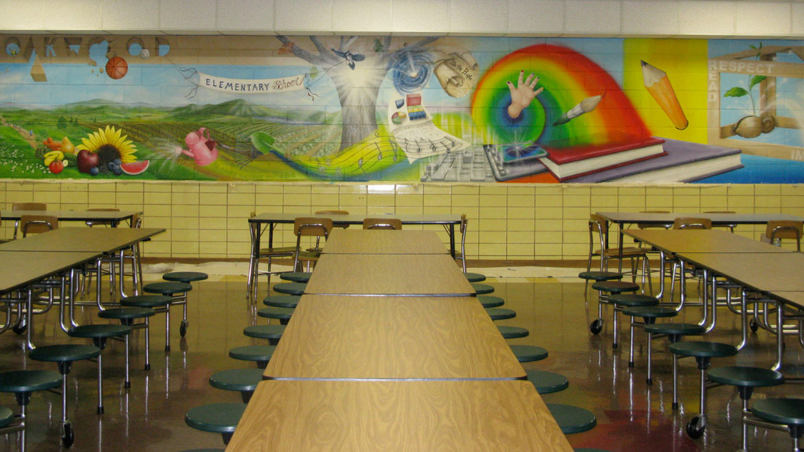 Oakwood elementary school artist in residence for 2 for Elementary school mural