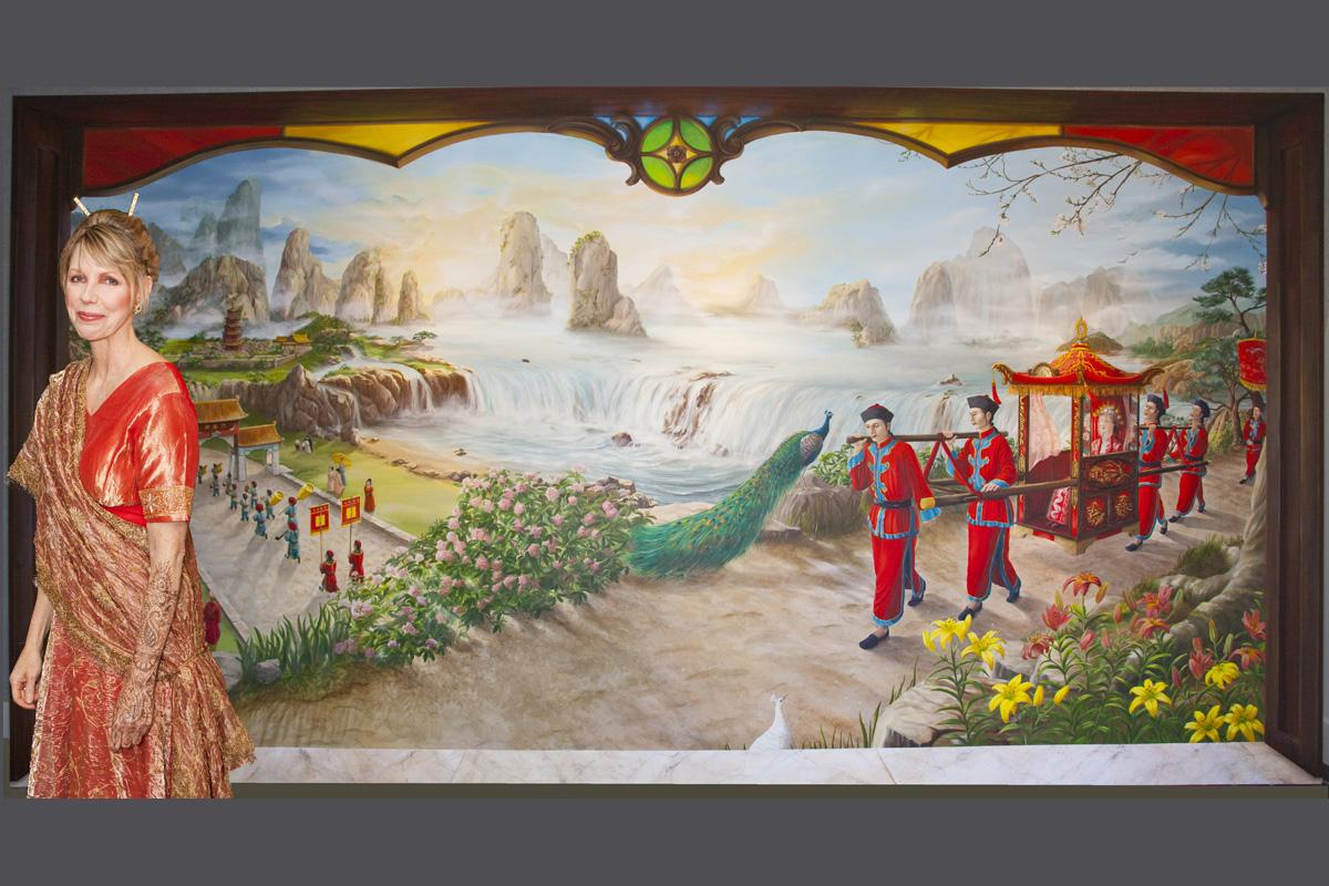 Chinese Wedding Mural
