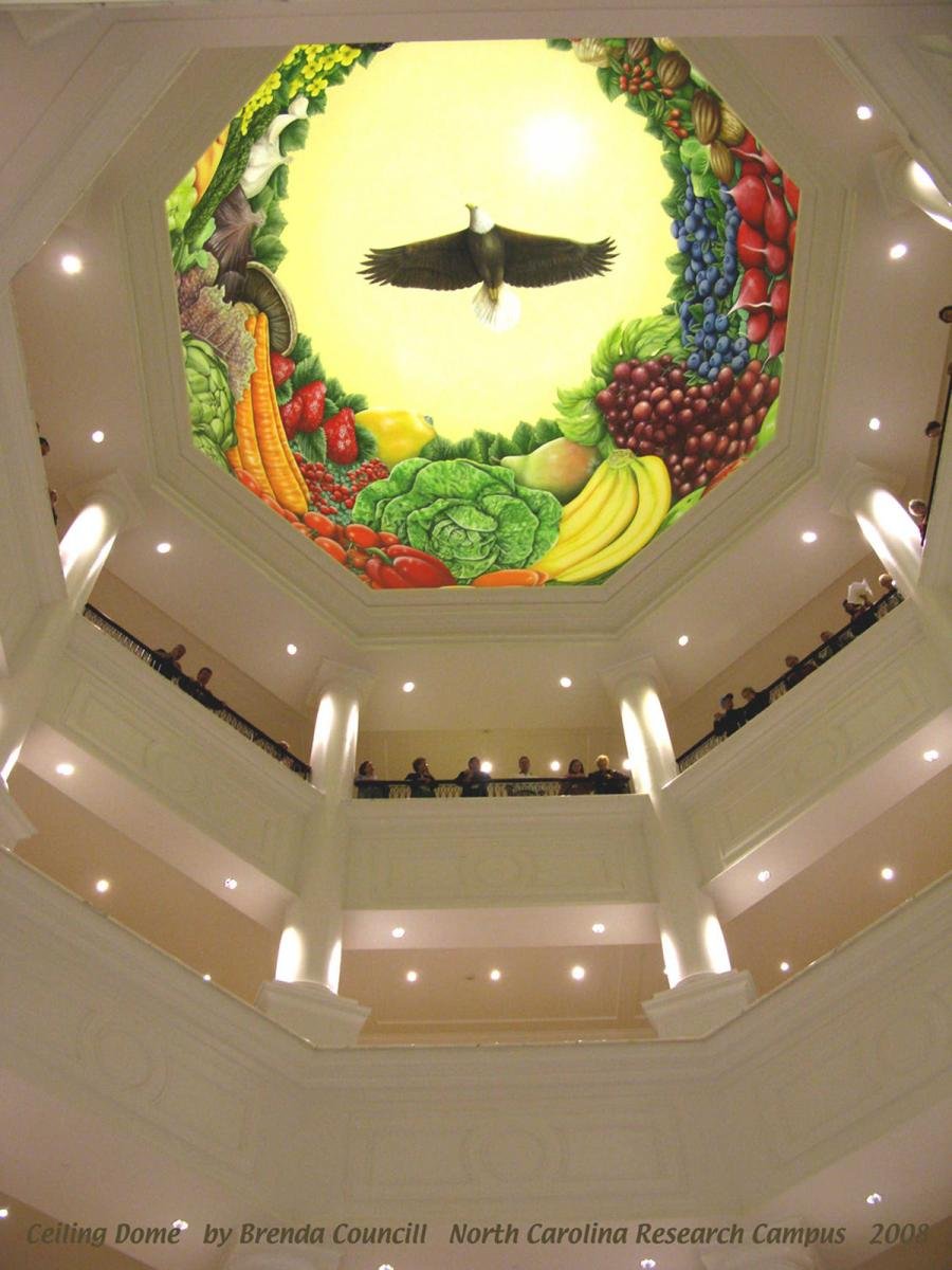 "North Carolina Research Campus - Dole Foods Mural - ""Superfoods"""